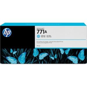 HP INC. - WIDE FORMAT INK 771A 775ML LIGHT CYAN INK CART F/ DESIGNJET