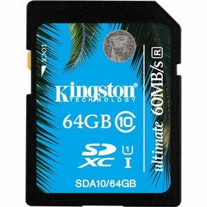 KINGSTON - DIGITAL IMAGING 64GB SDXC CLASS 10 UHS-I ULTIMATE FLASH CARD