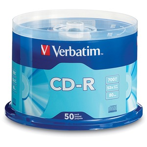Verbatim CD-R 700MB 52X with Branded Surface - 50pk Spindle 94691