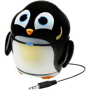 GOgroove Groove Pal GG-PAL-PENGUIN 2.0 Portable Speaker System - 4 W RMS - Black, White