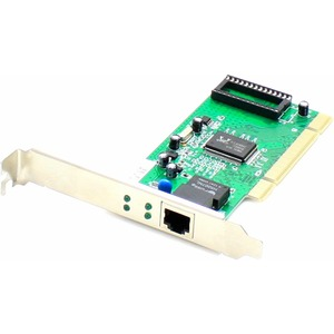AddOn SIIG CN-GP1011-S3 Comparable 10/100/1000Mbs Single Open RJ-45 Port 100m PCI Network Interface Card