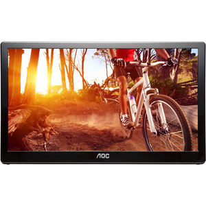 AOC e1659FWU 16inLED USB Powered Portable Monitor with case - 16inClass - Twisted nemati
