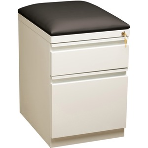 Lorell Mobile Pedestal File with Seating - 2-Drawer - 15