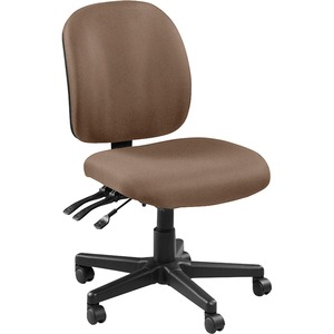 Lorell Mid-back Task Chair without Arms - Malted Fabric Seat - Fabric Back - 5-star Base - 1 Each