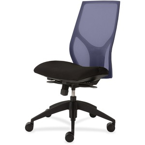 9 to 5 Seating Vault 1460 Armless Task Chair - Black Seat - 5-star Base - 1 Each