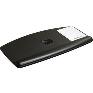 3M Adjustable Keyboard Tray Platform - 12.3inWidth x 2.3inDepth - Black - 1
