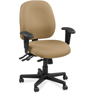 Eurotech 4x4 49802A Task Chair - Beige Leather Seat - Beige Leather Back - 5-star Base - 1 Each