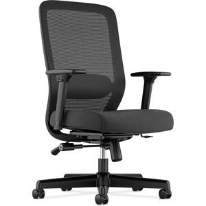 HON Exposure Mesh High-Back Task Chair - Black Fabric Seat - 5-star Base - 1 Each