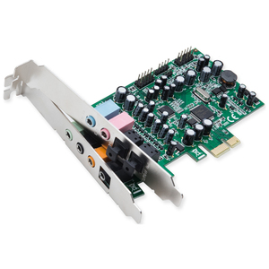 SYBA Multimedia Multi-channel PCI-Epress Sound Card - Main Card - 7.1 Sound Channels - Int