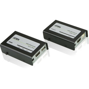ATEN HDMI USB Extender - 1 Input Device - 1 Output Device - 131.23 ft Range - 2 x Network