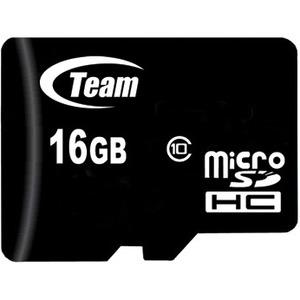 TEAM 16 GB Class 10 microSDHC - Class 10 - 1 Card