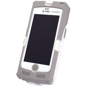 Code CR4405 iPhone 5 Sled Barcode Reader Light Gray Battery Charging Station USB Cable