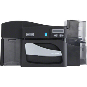 DTC4500E W/ DUAL-SIDE LAMINATION BASE MODEL USB AND ETHERNET   PRINTER WITH THR
