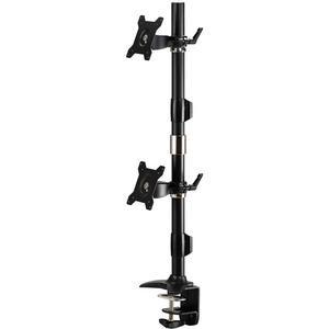 """Amer Mounts Clamp Based Vertical Dual Monitor Mount for two 15""""-24"""" LCD/LED Flat Panels"""