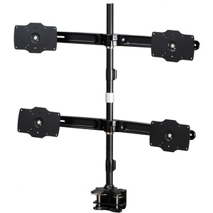 """Amer Mounts Clamp Based Quad Monitor Mount for four 24""""-32"""" LCD/LED Flat Panel Screens"""