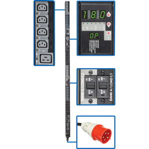 Tripp Lite 18KW 3-PHASE Switched PDU 240V OUTLETS(24 C13 & 6 C19) IEC309 30A 415V Input 6FT Cord