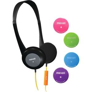 Maxell Action Kids Headphones With Mic - Stereo - Wired - Over-the-head - Binaural - Supra