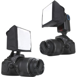 Accessory Power Soft Box Flash Diffuser with Dual Mounting