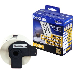 Brother DK1201 - Standard Address White Paper Labels - 3.14inWidth x 1.14inLength - 400