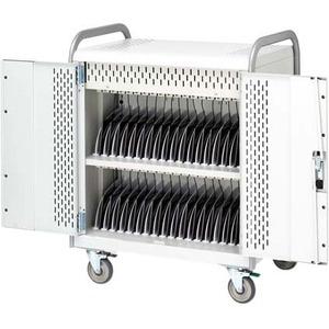 Bretford 36-Unit Device Cart - 12in- 341 lb Load Capacity - 2 x Shelf(ves) - Locking Door