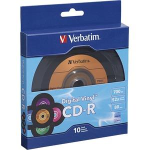Verbatim CD-R 80min 52X with Digital Vinyl Surface - 10pk Bulk Box - TAA Compliant