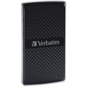 Verbatim 128GB Vx450 External SSD, USB 3.0 with mSATA Interface - Black - TAA Compliant