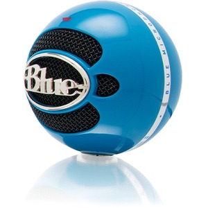 Blue Microphones Snowball USB Microphone - Neon Blue - Omnidirectional Mode w/ Tripod Mic Stand