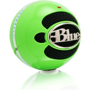 Blue Microphones Snowball USB Microphone - Neon Green - Omnidirectional Mode w/ Tripod Mic Stand