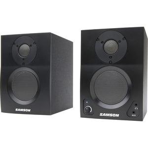 Samson MediaOne BT3 Bluetooth Speaker System - 15 W RMS - Black - Desktop - 80 Hz to 27 kH