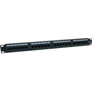 ADD-ON NETWORKING DT 19-INCH CAT6 24 PORT 110-TYPE STRAIGHT 1U PATCH PANEL
