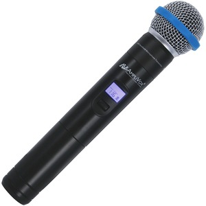 AmpliVox S1695 Wireless Microphone - Black - 584 MHz to 608 MHz - Handheld
