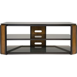 Natural Finish Bent Wood & Dark Pewter A/V System