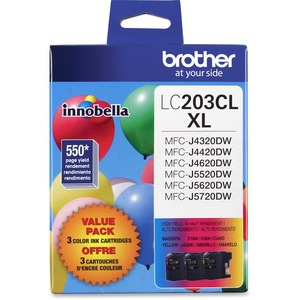 Brother Printer LC2033PKS CYAN/MAGENTA/YELLOW Multi Pack Ink Cartridge for MFC-J4620DW/5620