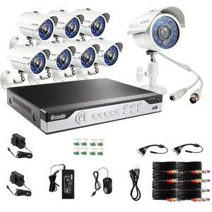 Zmodo Digital Video Recorder KHI8-YARUZ8ZN Kit 8Channel H.264 960H 8x700TVL IR Night Vision Outdoor