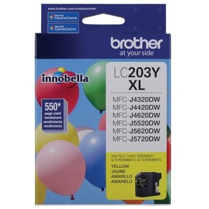 Brother LC203YS INNOBELLA™ High Yield 550 Pages Yellow Ink Cartridge for MFC-J4620DW / J5620DW