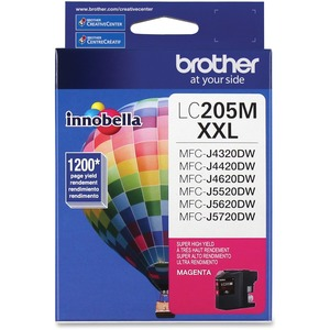 Brother LC205MS INNOBELLA™ Super High Yield 1 200 Pages Magenta Ink Cartridgefor MFC-J4420DW