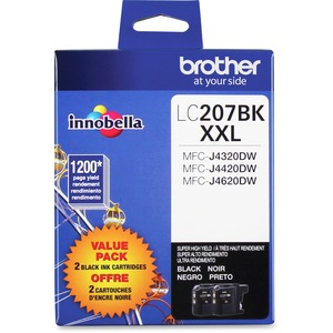 Brother LC207BKS INNOBELLA™ Super High Yield 1 200 Pages Black Ink Cartridgefor MFC-J4420DW