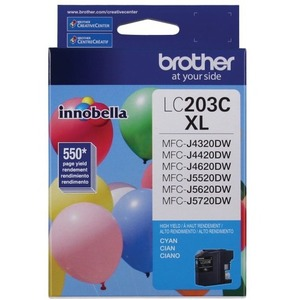 Brother LC203CS INNOBELLA™ High Yield 550 Pages Cyan Ink Cartridge for MFC-J4620DW / J5620DW