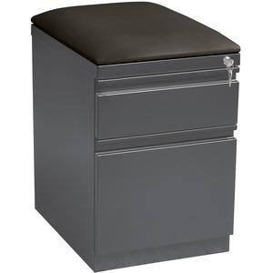 Lorell Seat Cushion Top Mobile File Pedestal File - 2-Drawer - 19.9