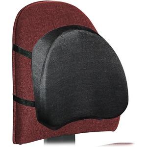 Lorell Adjustable Ergonomic Backrest - Strap Mount - Black
