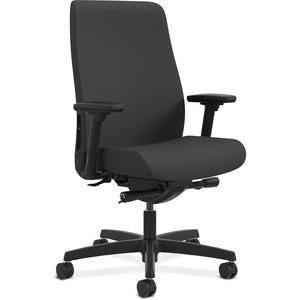 HON Endorse Mid-Back Task Chair - Black Fabric Seat - Black Fabric Back - 5-star Base - 1 Each