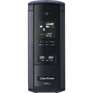 CYBER POWER SYSTEM - DT SB 1000VA AVR LCD UPS 120V 10 OUT 5-15R 6FT 2.1A USB LINE-INT 5YR WTY