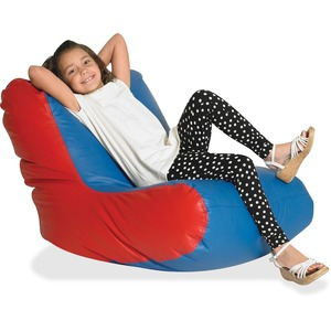 Children's Factory School Age High-back Seating - Red, Blue - Vinyl - 1 Each