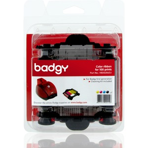 Badgy1 Color Ribbon. One color ribbon for 100 prints. YMCKO ribbon for your Badgy1 printer