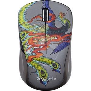 Verbatim Wireless Notebook Multi-Trac Blue LED Mouse, Tattoo Series