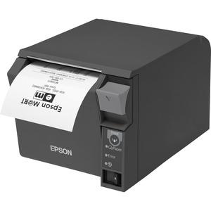 Epson TM-T70II Front Loading Thermal Receipt Printer WiFi (UB-R04) and USB Epson Dark Gray Powe