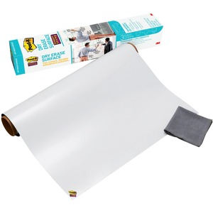 3M Post-it Self-stick Dry Erase Film Surface, 36 X 24, White - 24 (2 Ft)  Width X 36 (3 Ft) Length - White - Rectangle - 1 / Pack