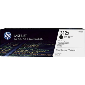 HP - TONER CF380XD 312X BLK DUAL PACK TONER CARTRIDGE FOR LASERJET