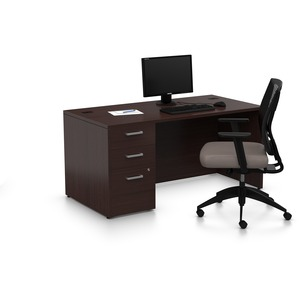 Offices To Go MLP232 Pedestal Desk   Rectangle Top   Pedestal Base   60  Table Top Width x 30  Table Top Depth   29  Height   Dark Espresso