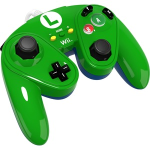 PERFORMANCE DESIGNED PRODUCTS WIRED FIGHT PAD FOR WII U - LUIGI